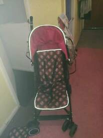 Minnie mouse obaby stroller
