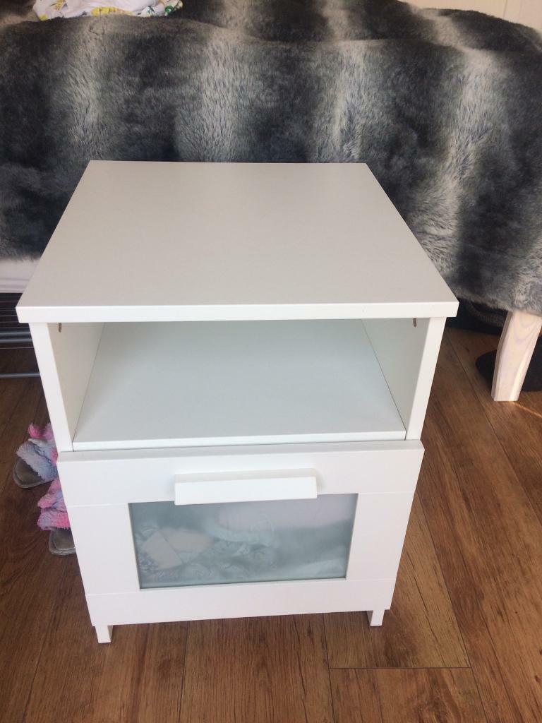buy popular c4b64 0e47a Ikea Brimnes bedside tables, white - set of 2.   in Coatbridge, North  Lanarkshire   Gumtree