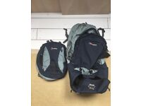 Berghaus Womens Dual Rucksack / backpack (shoulder and wheels). A perfect mix. And day pack as well.