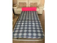 SINGLE FOLD UP GUEST BED, GOOD CLEAN CONDITION.