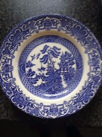 Old Willow Dinner set (blue).