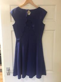 Royal blue scalloped-back dress (size 10)
