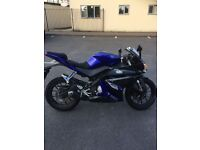 Yamaha YZF R125 with Viper Strait Exhaust in Blue For Sale
