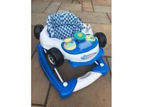 Baby walker rocker musical car