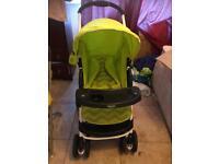 Graco pram lime colour excellent condition