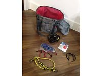 Bike basket + Silicon LED lights + 6 Elastic Bungee Cord + Trouser Clips