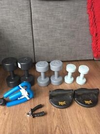 Weights and exercise set