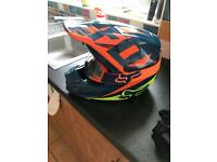 Fox v2 mx helmet and goggles