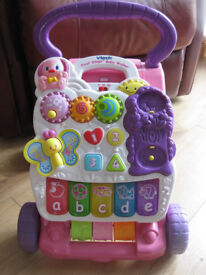 "Vtech ""PUPPY SAYS"" First Steps Baby Walker Pink lovely toy - for sale on lots of websites REDUCED"