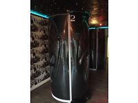Aurora Vertical Sunbed with changing cubicle and Lie down Zenith sunbed