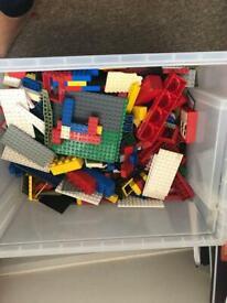 Box of Lego pieces