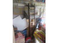 Ladder - medium size - 180Cm not extended. Wooden. Very sturdy.