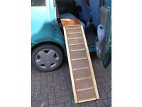 Dog ramp, wooden, folding for car