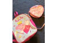 Peppa pig backpack and bag