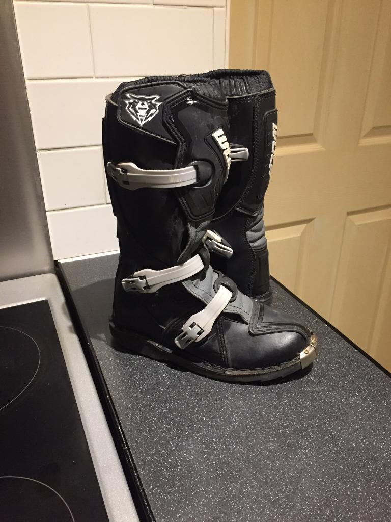 Kids motocross boots wulfsport uk size 2