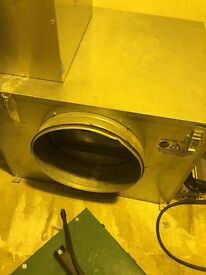 "Cheshunt Hydroponics Store - used 12"" acoustic metal box fan"
