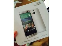 """HTC ONE M8 Phone Android 5"""" Full HD 32GB Dual 4MP Camera LTE Unlocked Silver"""