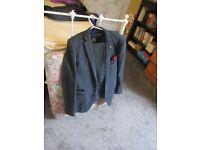 blue/grey wool-based 3 piece suit,