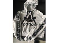 Adidas Grey Hoodie size 8