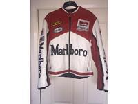 Vintage Marlboro Leather Biker Jacket M
