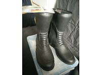 New Oxford motorcycle boots size 6 black