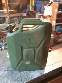 20 litre steel Jerry can, fuel container