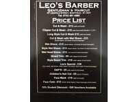 ********NHS EVENT**********10%DISCOUNT FOR ALL NHS STAFF***LEO'S BARBERS - 47 LEOPOLD ST.