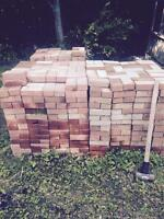 Red patio bricks for sale 50 cents each