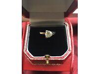 1 carat platinum engagement ring