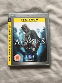 1st Assassins Creed (platinum edition) for PS3