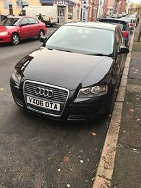 Audi A3 1.6 Black 3 Door Hatchback 2006 Low Mileage 97k