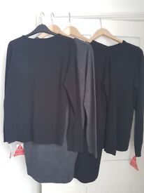Ladies Knitwear Brand New Black Jumpers Size 12 & 14 £5 each