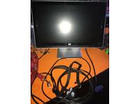 Hp pc monitor with all cables