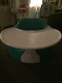 Baby bumbo seat turquoise with tray in Audenshaw