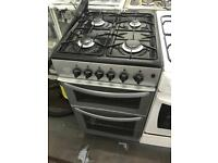 Silver new world 50cm gas cooker grill & oven good condition with guarantee