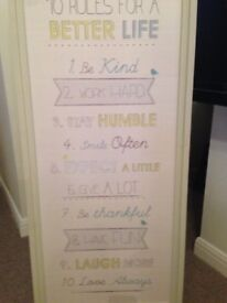 Wall Art - 10 Rules for a better life