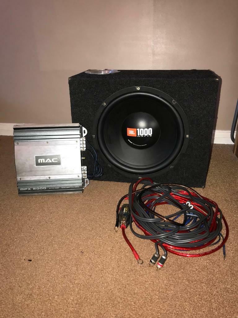 Jbl 1000w Sub Woofer Amp And Wiring Kit In Portsmouth Hampshire For Subs