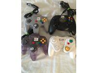 Set of 4 Retro controllers