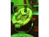 Vibrating and musical baby chair