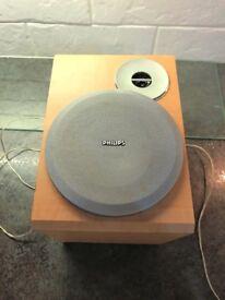Pair Philips Speakers -wooden