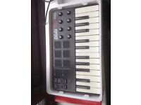 Akai MPK Mini MIDI controller; Excellent for songwriters, users of DAWs and DJ sets.