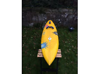 Unique Custom windsurfing / surf board by Tombstonesurf - shaped and signed by Dan Kinnaird