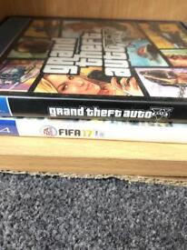 GTA V and FIFA 17 for ps4