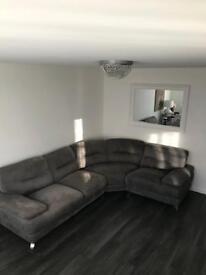 Gilles Grey corner sofa