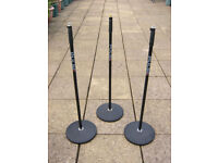 Pulse round base mic stands x3 £45