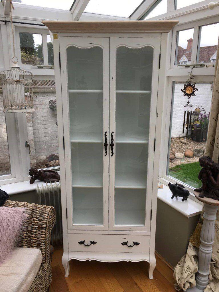 LLB Three shelf glass door display cabinet (white)