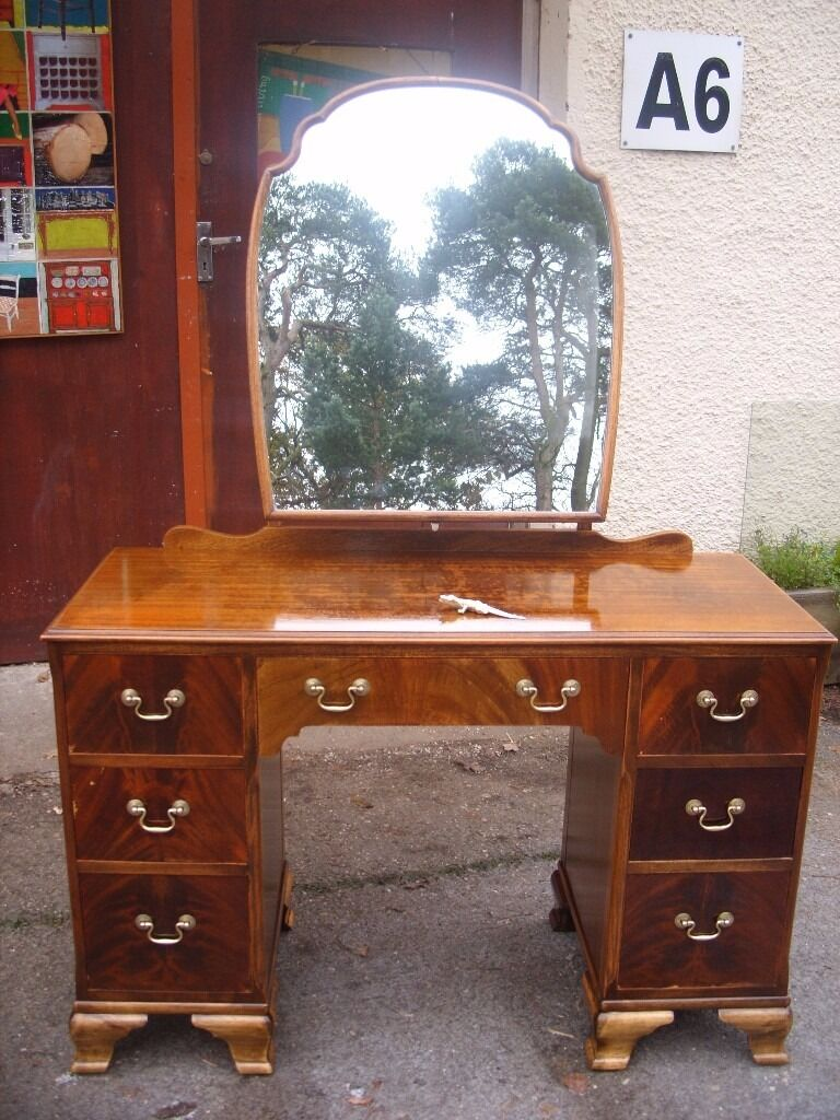 Antique mirrored dressing table - Vintage Dresser With Shaped Mirror C 1950 Mirrored Chest Of Drawers Rat Dressing