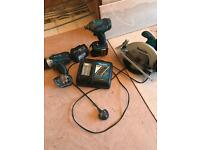Makita 3 set x2 battery 18v /3Ah