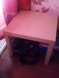 Small square pine table
