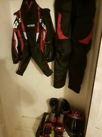 Motorcycle gear full set used once
